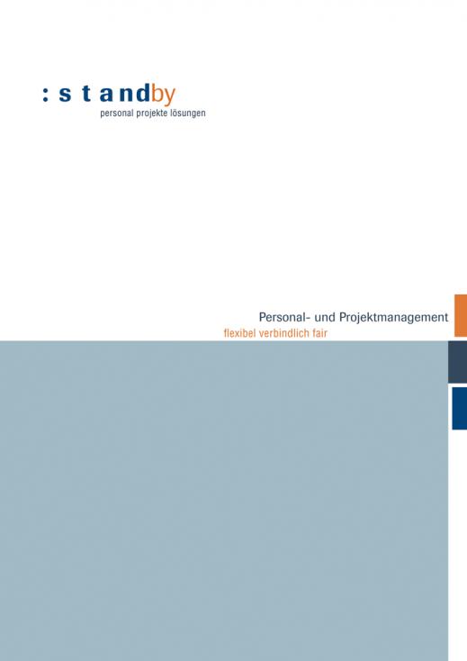 Broschüre für Unternehmen, Titelseite