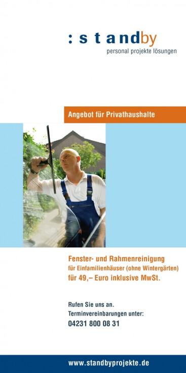 Faltblatt, Titelseite
