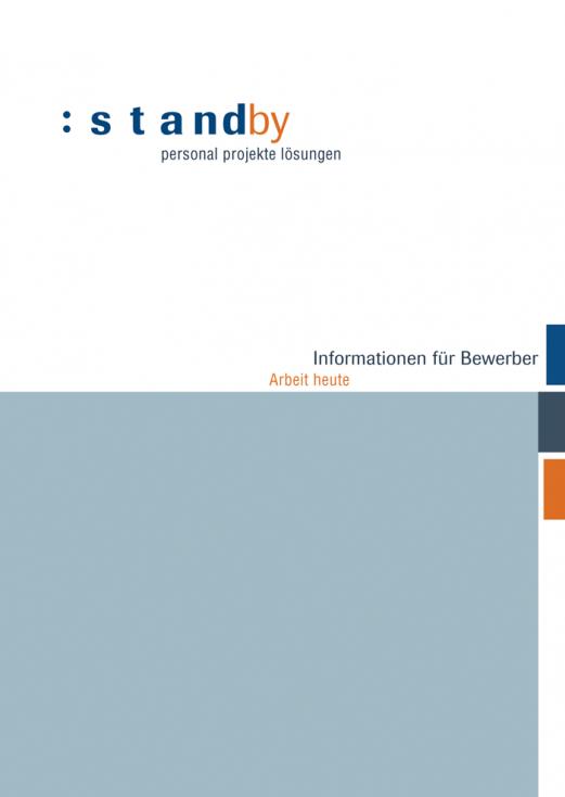 Broschüre für Bewerber, Titelseite